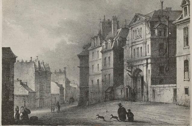 Entrée de la prison Saint-Lazare de Paris au XIXe siècle