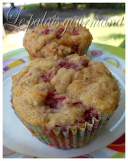 Muffins moelleux aux framboises et crème sûre
