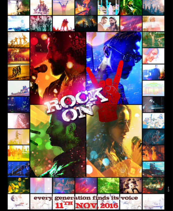 Rock On 2 first look, Poster of Farhan Akhtar, Arjun Rampal, Shraddha Kapoor, Prachi Desai download first look Poster, release date