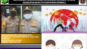 Karya Unik Humas Polsek Batu Ceper Dengan Konten Poster/Meme, Ajak Masyarakat Dukung Kebijakan New Normal