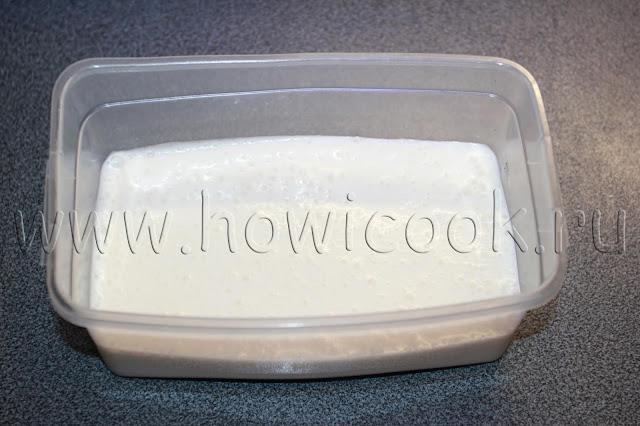 рецепт сливочного  пломбира с пошаговыми фото