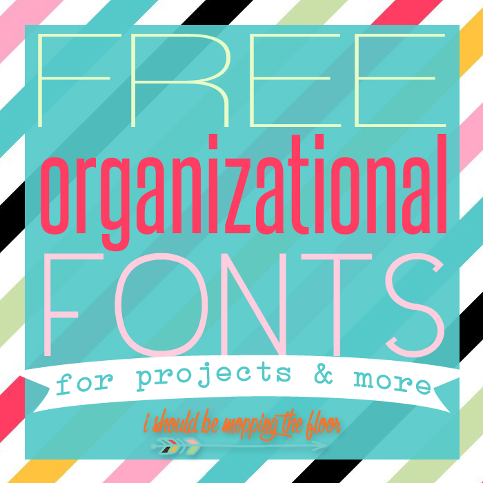 Free Fonts for Organizational Projects (and Free Graphics, too!)