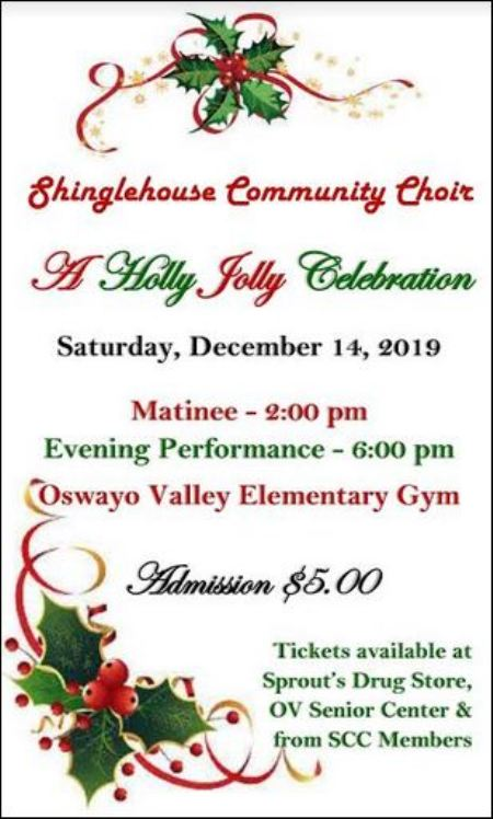 "12-14 Shinglehouse Community Choir ""A Holly Jolly Celebration"""