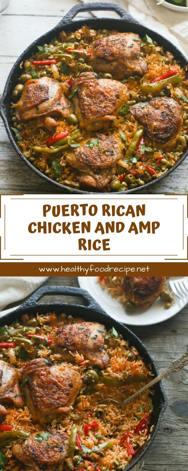 PUERTO RICAN CHICKEN AND AMP RICE