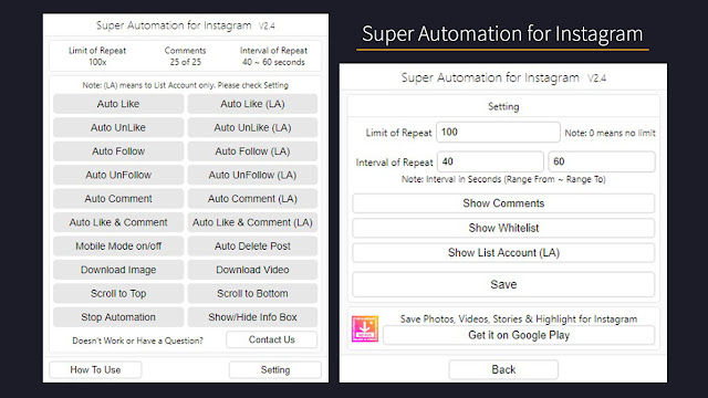 Super Automation for Instagram