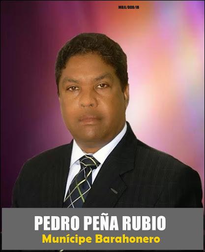 PEDRO PEÑA RUBIO, MUNÍCIPE BARAHONERO