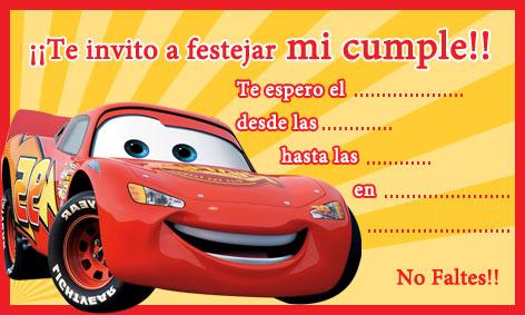 Todo Tarjeteria Invitaciones De Cumpleaños Cars Todo