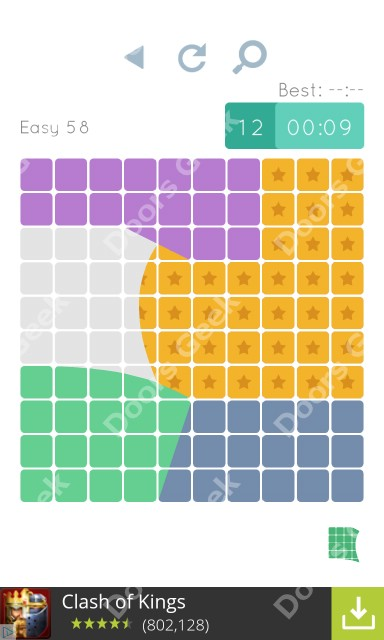 Cheats, Walkthrough for Blocks and Shapes Level 58