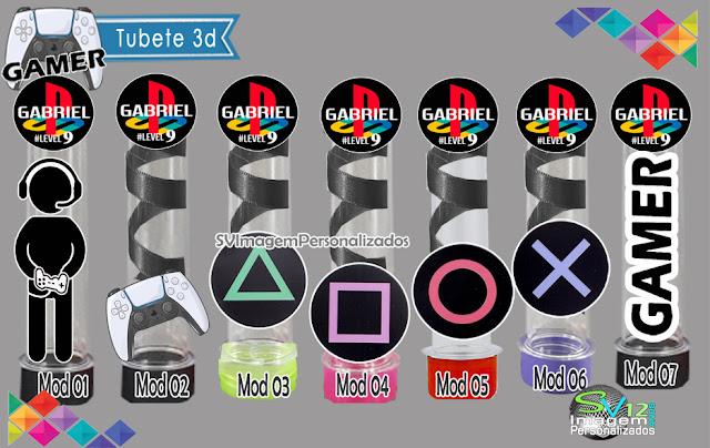 Festa Game Playstation dicas e ideias para decoração de festa personalizados tubete 3d