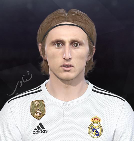 Luka Modrić Image 5: PES 2018 Faces Luka Modrić By Facemaker Ahmed El Shenawy