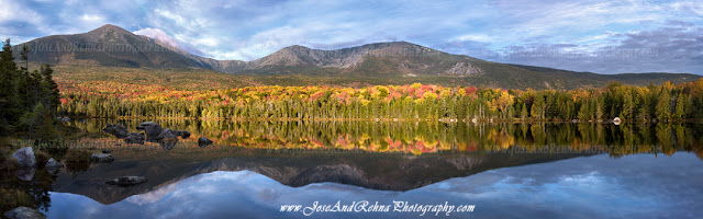 Sandy Stream Pond reflection Roaring Brook Trail Baxter state park Katahdin Maine