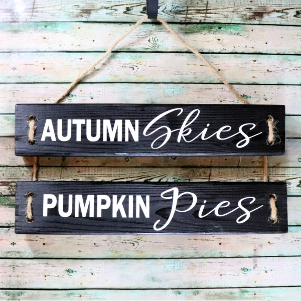 Fall wood sign from 2x4s