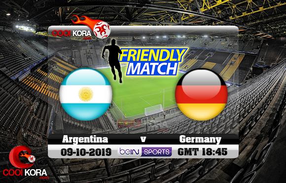 مشاهدة مباراة ألمانيا والأرجنتين اليوم 9-10-2019 مباراة ودية