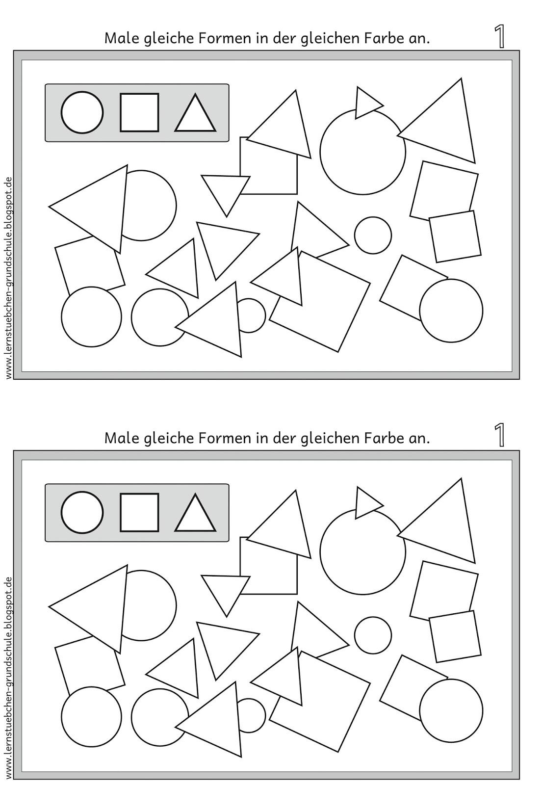 lernst bchen gleiche formen erkennen und gleich anmalen. Black Bedroom Furniture Sets. Home Design Ideas