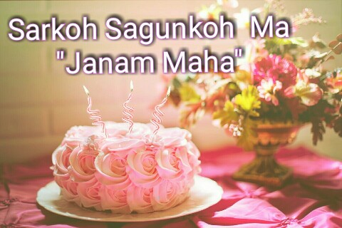 Birthday wish photo in santali