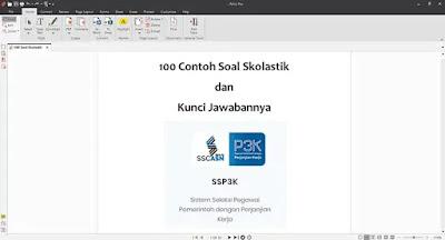 100 Contoh Soal Skolastik PPPK Terbaru dan Kunci Jawaban