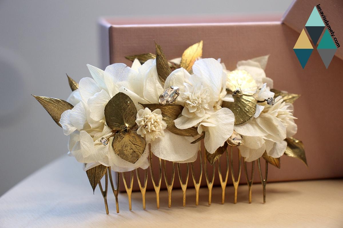 avis et test peigne mariée fleurs couronnes de victoire