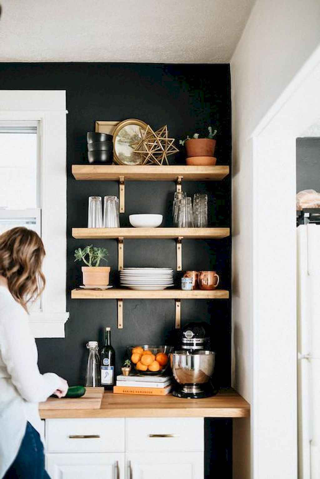 Clever Small Kitchen Remodel and Open Shelves Ideas