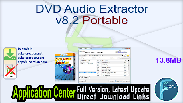 DVD Audio Extractor v8.2 Portable