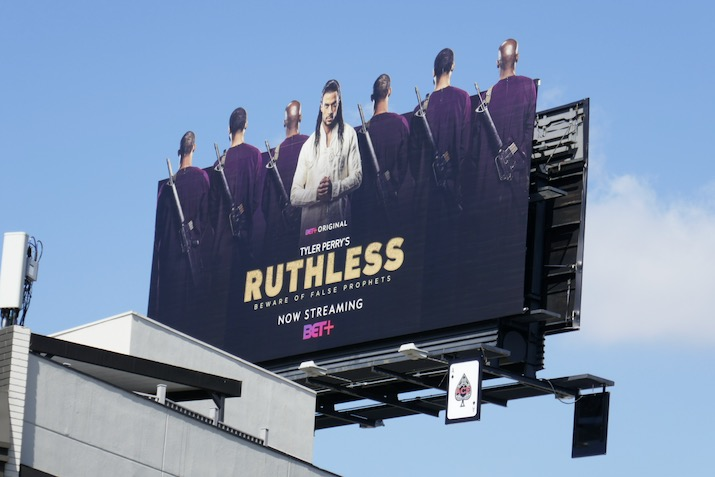 Ruthless series launch billboard