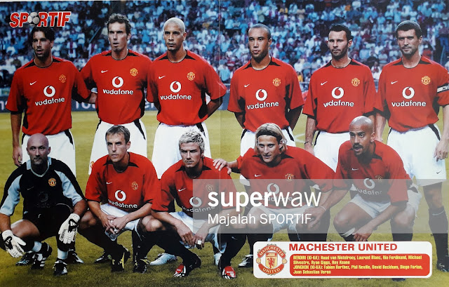 TEAM MANCHESTER UNITED 2002 2003