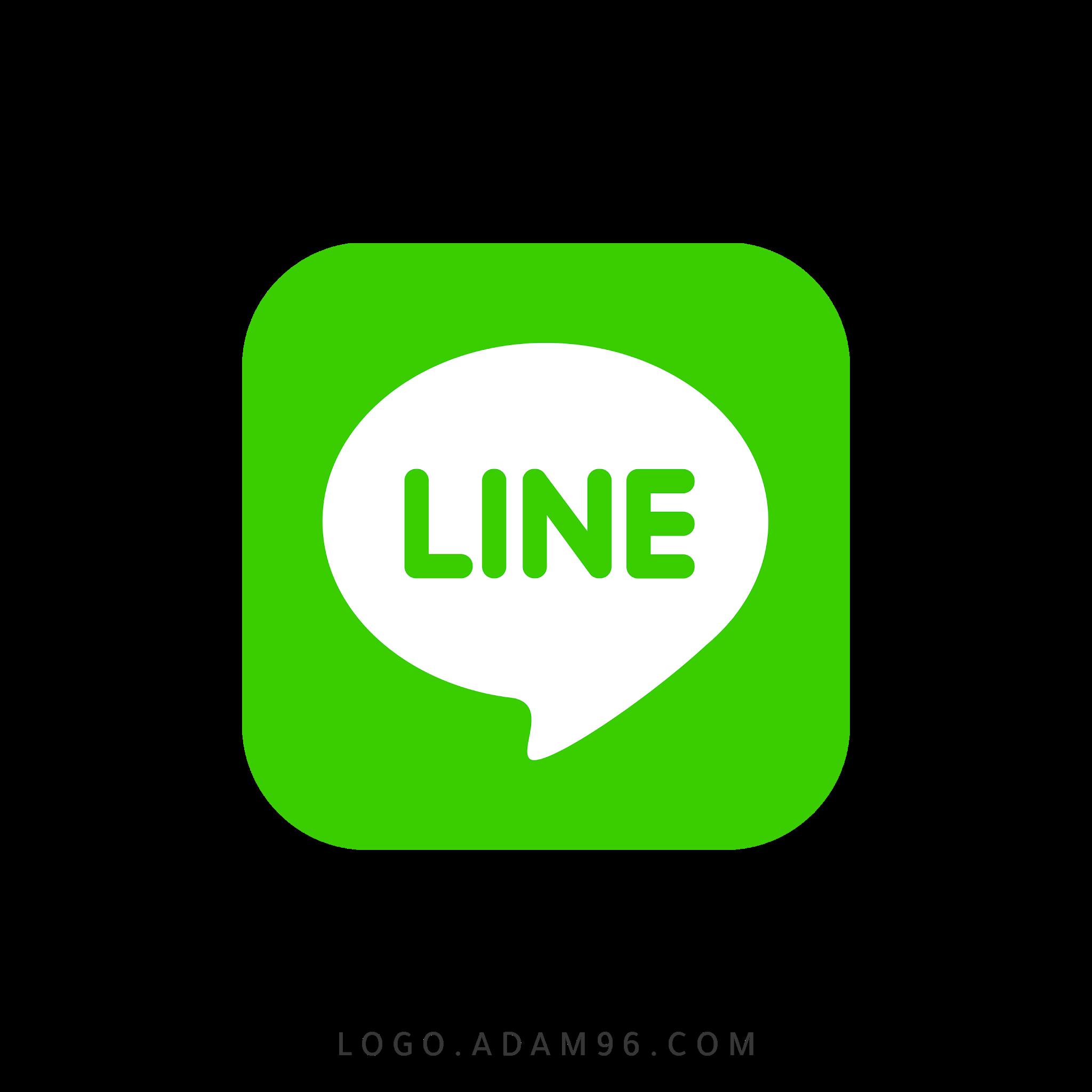 تحميل شعار تطبيق لاين ماسنجر الشهير لوجو شفاف Logo Line Messenger PNG