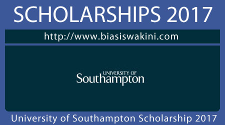 University of Southampton Scholarship 2017
