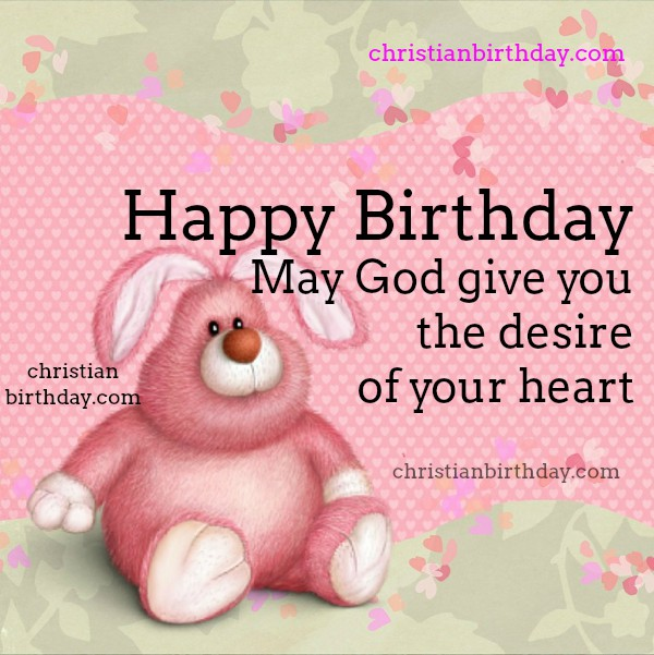 Happy Birthday free card for girl, daughter, woman, sister. Free nice image with christian quotes for birthday.