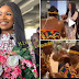 Tacha Amazed As Crowd of Ghanaian Fans Welcome Her With Incredible Cultural Performance At The Airport (Video, Photo)
