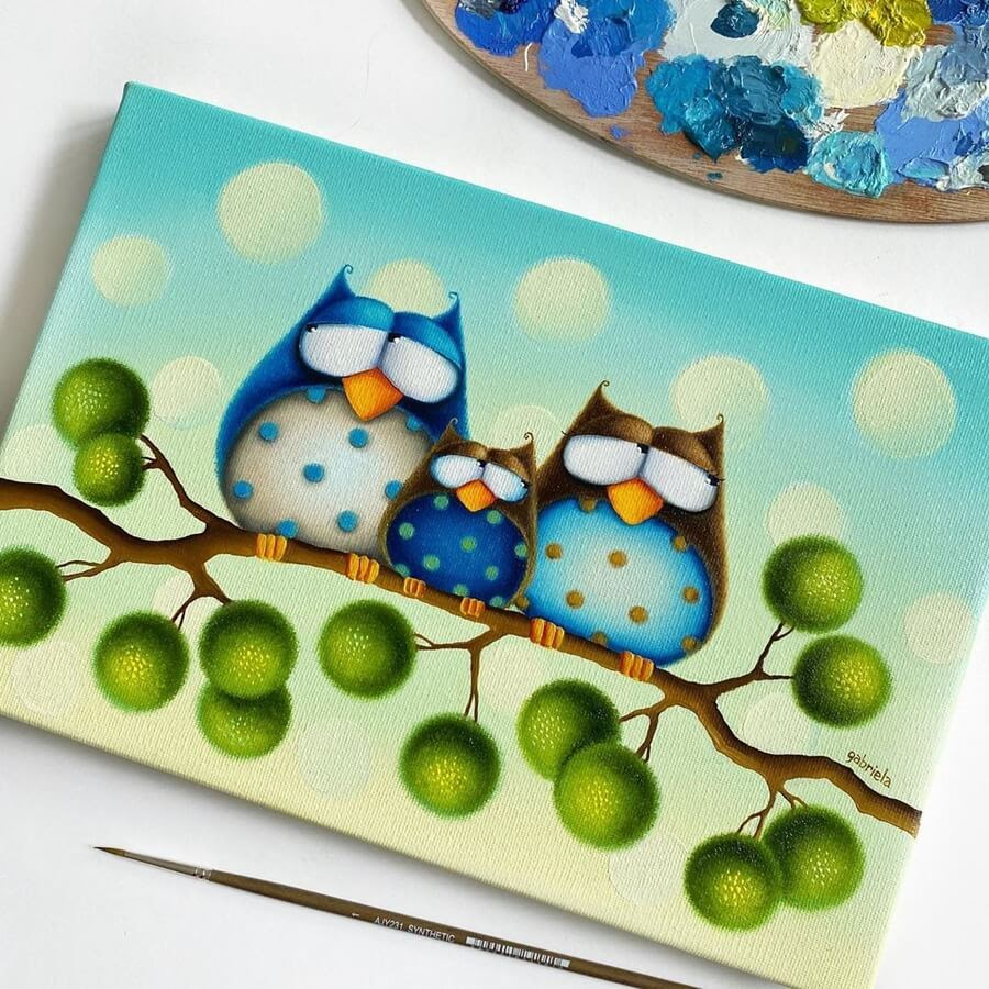 02-Little-Owl-Family-Gabriela-Elgaafary-www-designstack-co