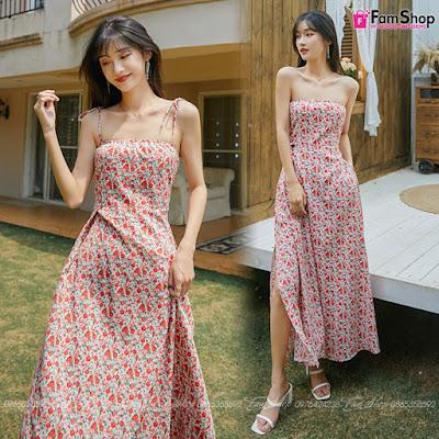 Váy maxi đi biển V241