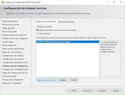 Instalación de SQL Server 2014, Minería de datos