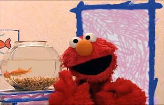 Elmo shows his hands. Sesame Street Elmo's World Hands