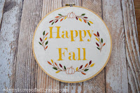 free fall embroidery patter