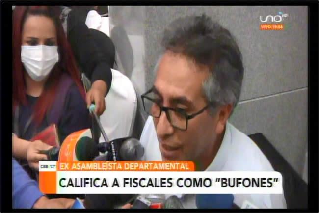 Torrico calificó de bufones a algunos representantes del Ministerio Público, se quejó de la justicia