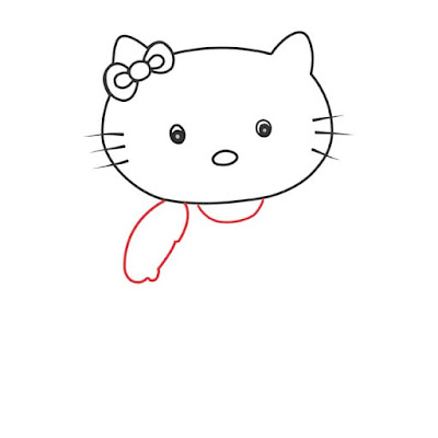 How to draw a hello kitty cute cat - step by step easy way, cat drawing easy, cute cartoon cat drawing