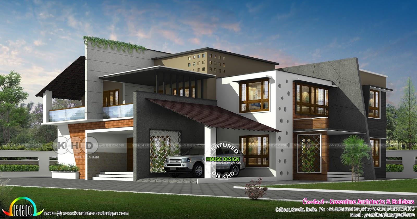 4 Bedroom 4448 Sq Ft Ultra Modern Home Kerala Home Design