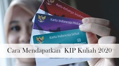 Pendaftaran KIP Kuliah (KIPK) 2020