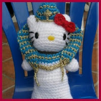 Kitty faraón amigurumi