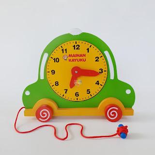 Jam Mobil Mainan Kayuku Agdiatoys