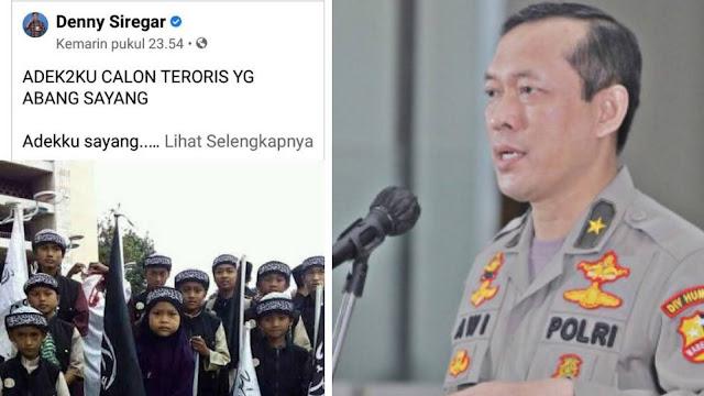 Beda Proses Kasus Maaher dan Denny Siregar, Polisi: Orang dalam Gambar itu Masih Dicari