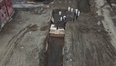 Tahanan yang menggali kuburan massal di pulau Hart, New York
