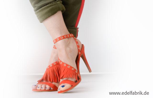 die Edelfabrik, welche Schuhe passen zur Jogging Hose, orange und grün