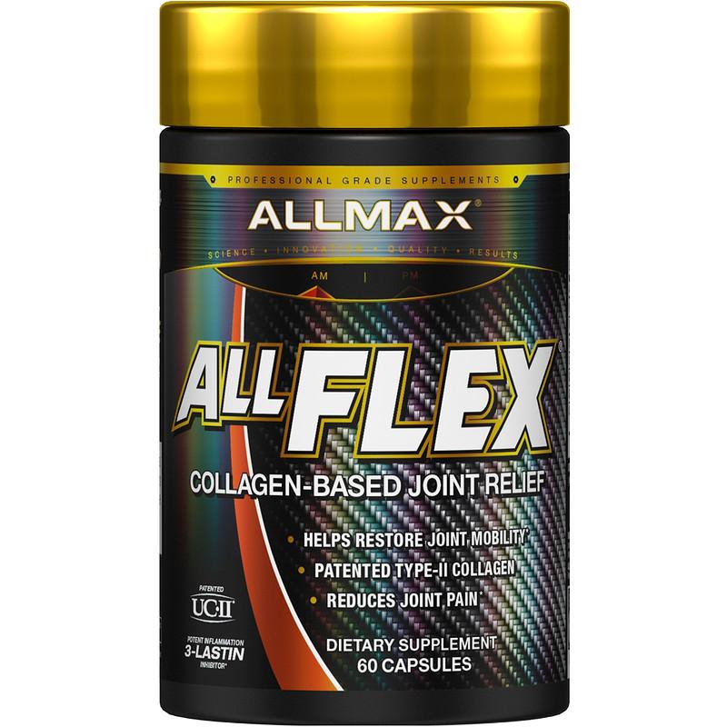 ALLMAX Nutrition, AllFlex, Collagen-Based Joint Relief, UC-II Collagen + Curcumin, 60 Capsules