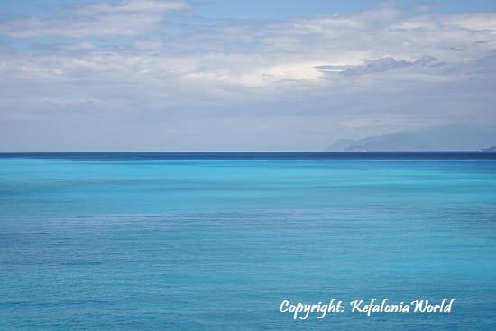 Kefalonia sea colors