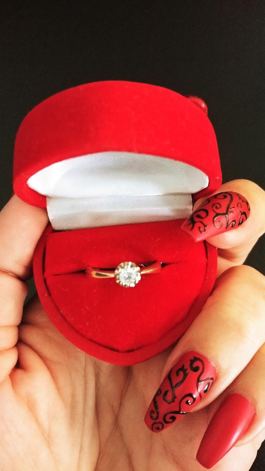 Han satte ringen på mitt finger
