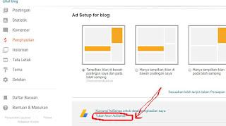 tidak bisa tambahkan tombol adsense di blog