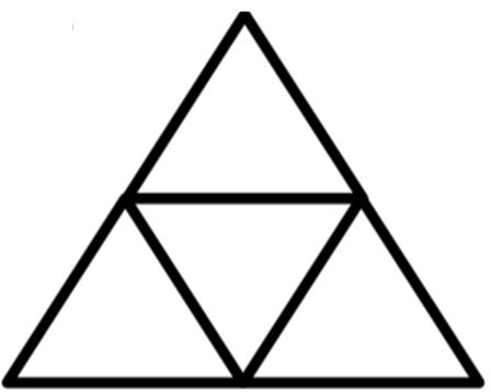 Hitunglah jumlah segitiga pada gambar berikut