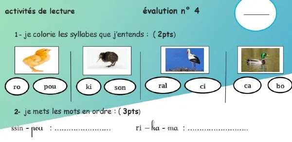 فرض اللغة الفرنسية المرحلة الرابعة للمستوى الثاني الدورة الثانية 2021