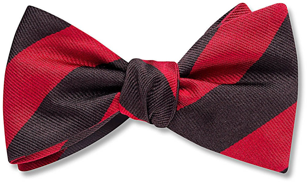 Red and Black bow tie from Beau Ties Ltd.